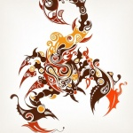 modele tatouage femme scorpion