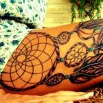 top 75 des mod les de tatouage cuisse femme. Black Bedroom Furniture Sets. Home Design Ideas