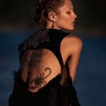 tatouage femme scorpion dos
