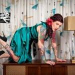 tatouages couleurs femme 2 bras portrait fleurs