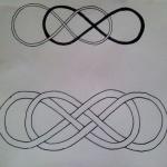 2 infinis double pour femme a tatouer