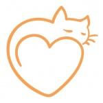 Dessin tatouage chat stylise avec coeur