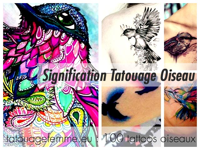 tatouage oiseau femme top 80 tattoos oiseaux f minins. Black Bedroom Furniture Sets. Home Design Ideas