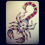 idee tatouage femme scorpion avec tete de mort