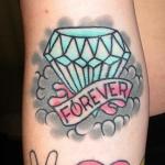 idee tattoo bras diamant et forever