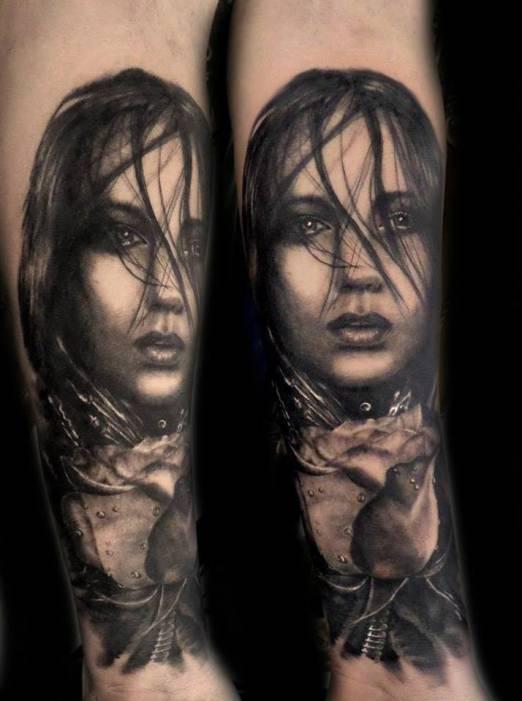 idee tattoo bras portrait realiste