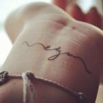 tatouage prenom fille discret poignet