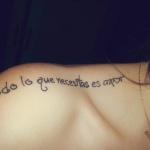exemple tatouage phrase en espagnol femme