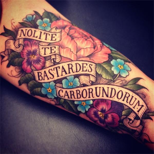 Photo Tattoo Feminin Phrase Anglais Interieur De L Avant Bras