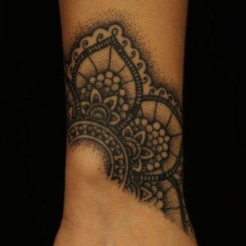 Tatouage Poignet Femme Bracelet Mandala Tatouage Femme