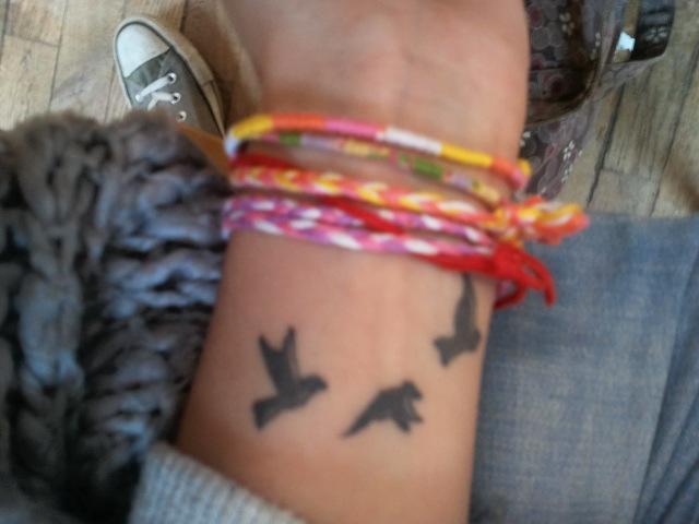 tatouages poignet 3 colombes