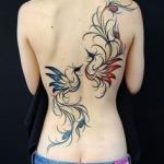 photo tatouage fin 2 phoenix femme