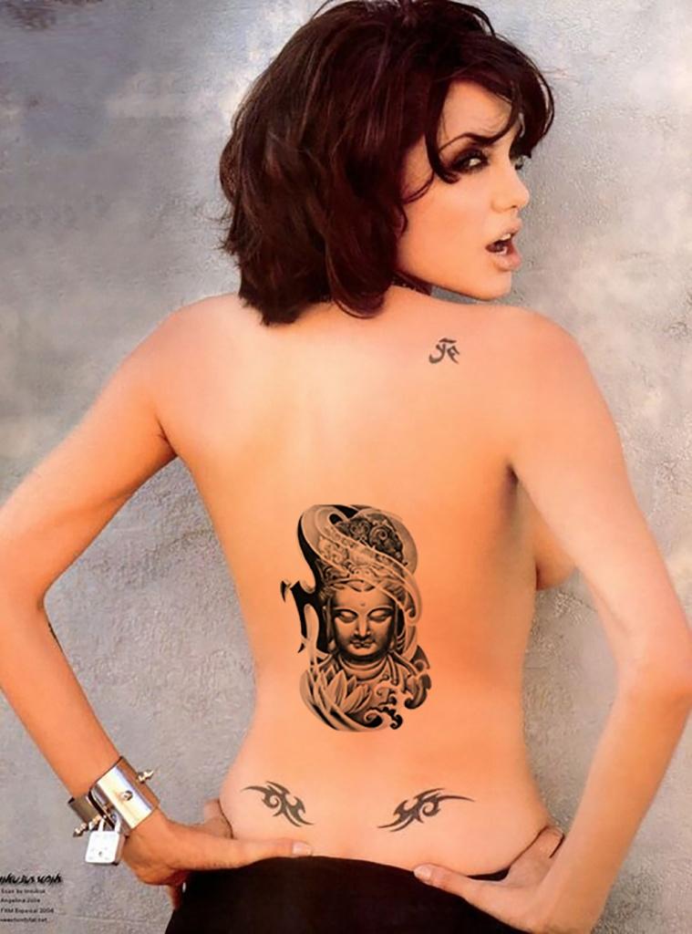 exemple tatouage bouddha femme dos centre