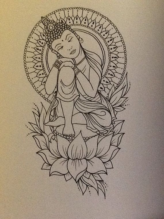 exemple tatouage bouddha femme et lotus tatouage femme. Black Bedroom Furniture Sets. Home Design Ideas