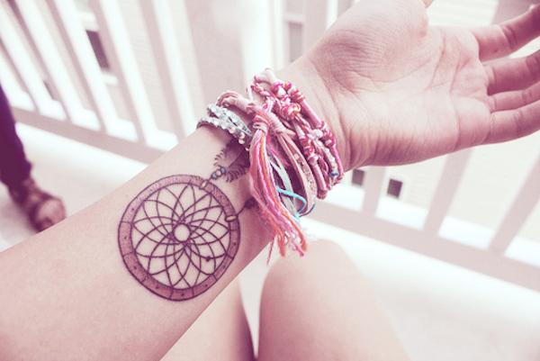 idee tatoo femme amerindien discret niveau poignet interieur