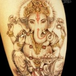 photo tattoo feminin bouddhiste divinite ganesh