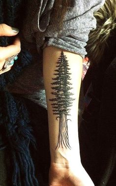 tatouage femme beau sapin longueur interieur bras