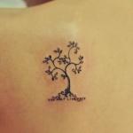 tatouage femme petit symbole arbre