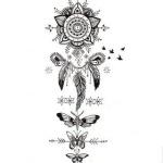 motifs et idees pour tatouer plume femme