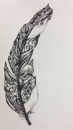 tatouage mandala plume fille