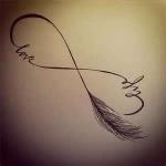 dessin infini femme a tatouer