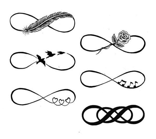 idee 6 tattoos infini femme
