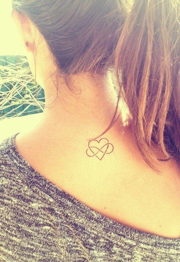 Petit Tatouage Discret Symboles Infini Et Coeur Entrecroises
