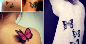 tatouages papillon pour femmes