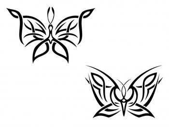 idee tattoo dessin 2 papillons pour femmes