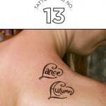 tattoo coeur dos avec prenom a l interieur