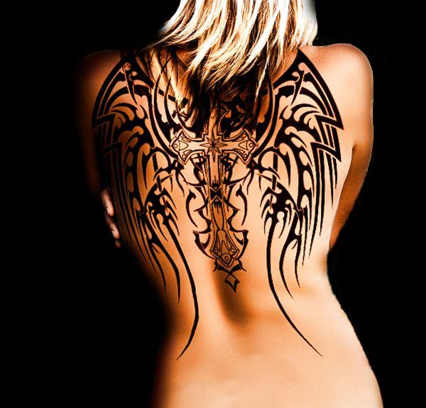dos tatouage femme tribal