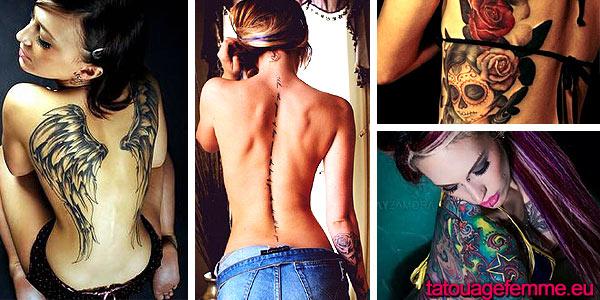 tatouage femme dos exemples