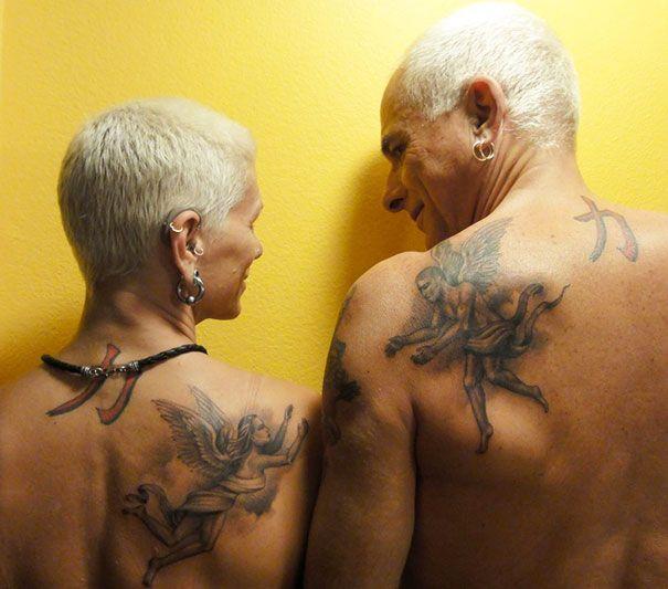 Tatouage Dos Ange Omoplate Couple Homme Et Femme Tatouage Femme