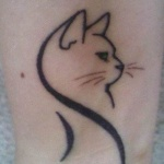 Idee tattoo chat stylise de porfil