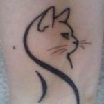Idee tattoo chat stylise de porfil