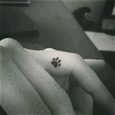 Idee tattoo discret empreinte de chat doigt