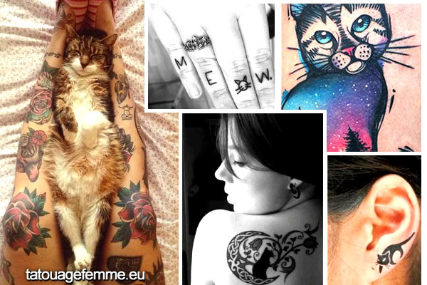 Tatouage Chat Signification Et Top 60 Motifs De Tattoo Chat