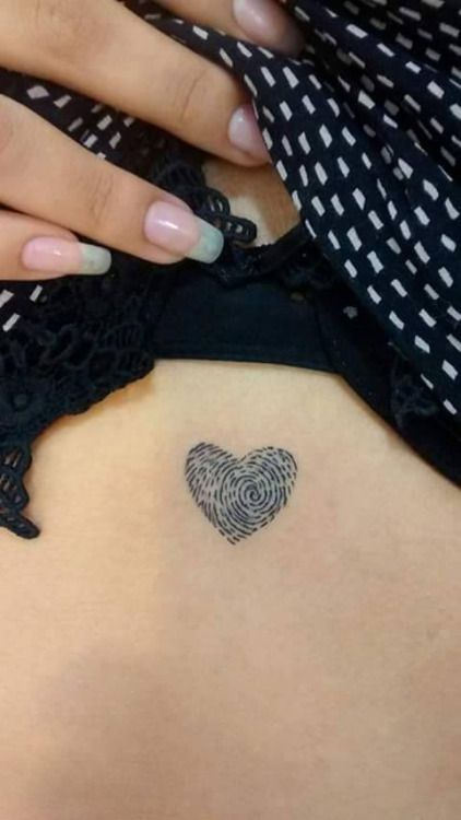 Photo petit tattoo feminin discret coeur