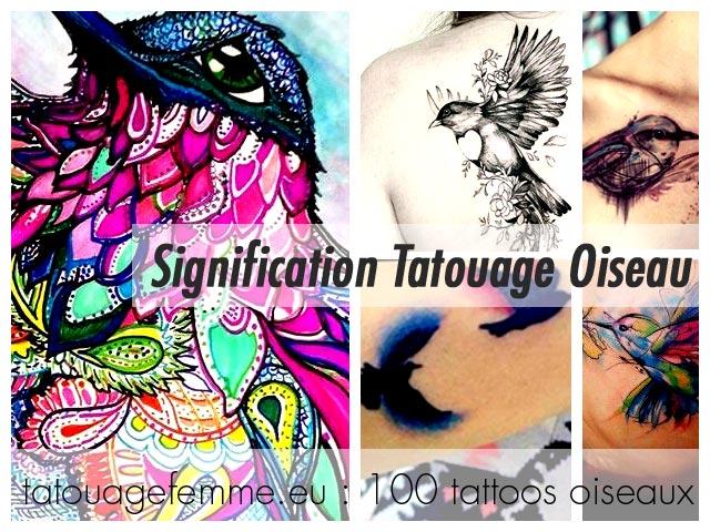 Tatouage Oiseau Femme Top 80 Tattoos Oiseaux Feminins