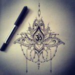 Tatouage mandala om en dessin