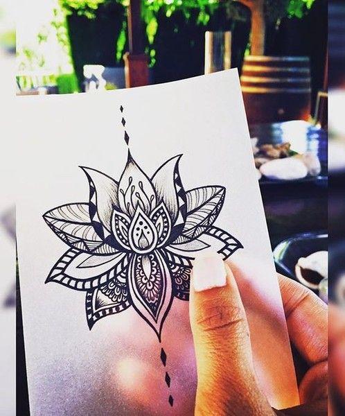 Tatouage Symboles Fleur De Lotus Mandala Fille Tatouage Femme