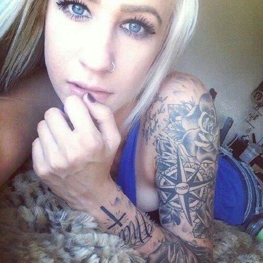 Idee tattoo manchette avec rose des vents