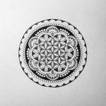 Exemple dessin d une fleur de vie dans un cercle travaille