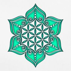 Fleur de vie dans fleur de lotus idee tattoo femme