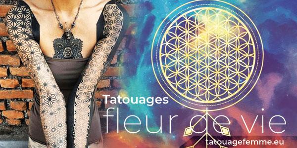 Fleur de vie tatouage  40 magnifiques tatouages de