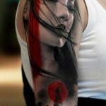 tattoo bras manchette portrait japonais photorealiste